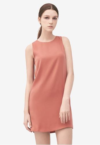 Kodz pink Ribbon Tie Detail Shift Dress A9F20AAB1B0599GS_1