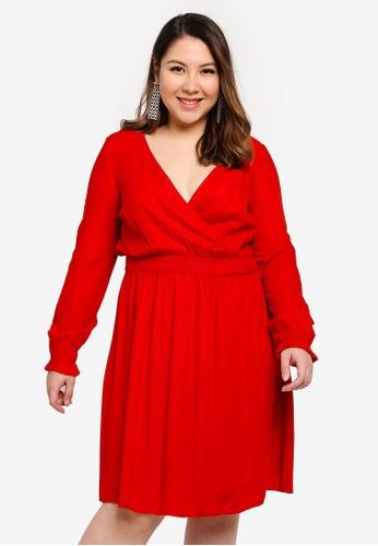 Junarose red Plus Size Jasmine Above Knee Dress BF432AAB271B3CGS_1