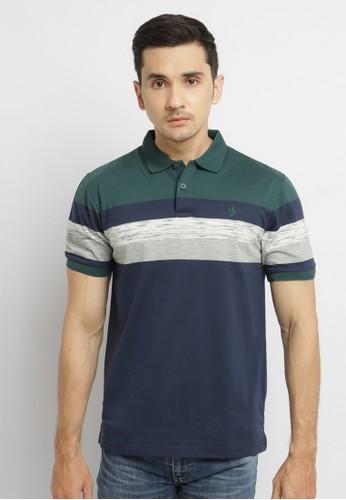 Osella navy Osella Baju Pria Polo Shirt Stripe Navy AD2B6AA04762A1GS_1