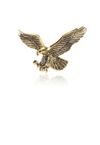 Glamorousky silver Fashion Domineering Plated Gold Eagle Brooch A8C70ACFDA472DGS_1