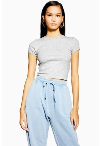 45963db9cff59c Shop TOPSHOP Picot Trim T-Shirt Online on ZALORA Philippines