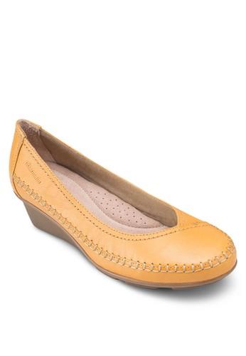 esprit 工作Glynn 2 經典圓頭低楔型鞋, 女鞋, 鞋