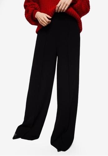 Mango black High-Waist Palazzo Trousers 2A2AAAADCAAEEFGS_1