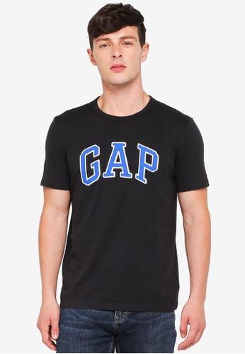 GAP black Logo Crew Neck T-Shirt 7ED63AA2C88D99GS_1