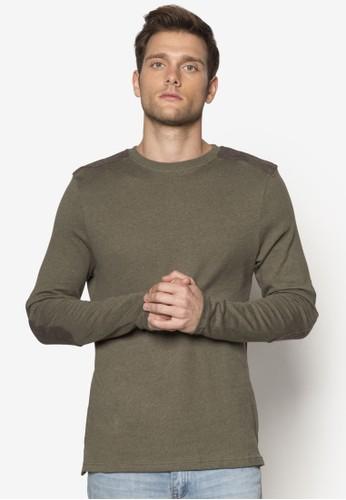 拼esprit mongkok布軍事風長袖衫, 服飾, 運動衫