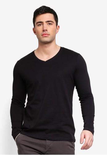 OVS black Long Sleeve Basic T-Shirt E95F6AA4C29A07GS_1