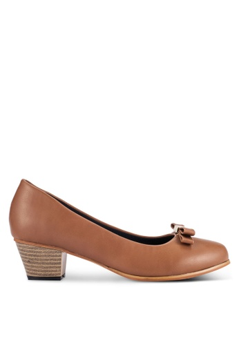Alfio Raldo brown Business Heeled Pumps AL803SH0R9PLMY_1