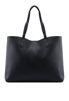 d95256f2f1 Mango black Pebbled Effect Shopper Bag F5B03AC97BFEDBGS 1