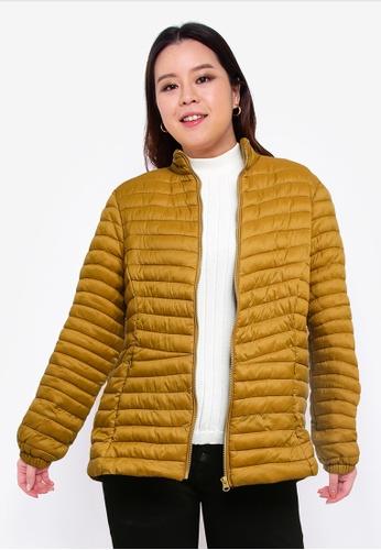 Junarose green Plus Size Trine Long Sleeve Jacket 42E6DAA7DD7FD7GS_1