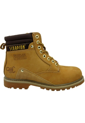 midzone yellow SCORPION Genuine Leather Steel Toe Safety Boots ADD7FSH8198F53GS_1