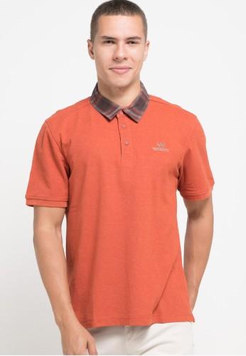 Watchout! Casual orange Short Sleeve With Collar 25C4CAA71687EFGS_1