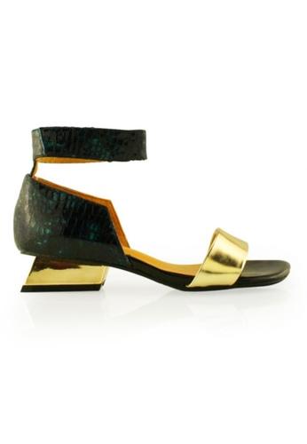 Gripz gold Ultra Open Toe Wedge Sandal GR357SH06JQRSG_1