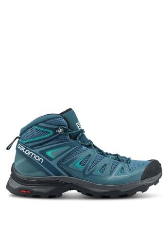 Salomon blue X Ultra Mid 3 Aero W Shoes D136FSH376BADFGS_1