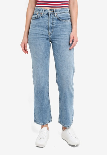 4676819916e9 Buy TOPSHOP Moto Mid Blue New Boyfriend Jeans Online on ZALORA Singapore