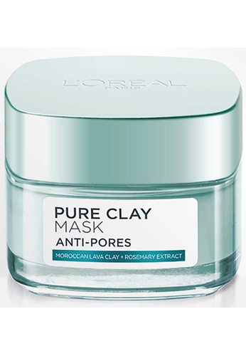 L'Oréal Paris L'Oréal Paris Anti-Pores Pure Clay Mask 50ml 1F17DBE355ADFFGS_1