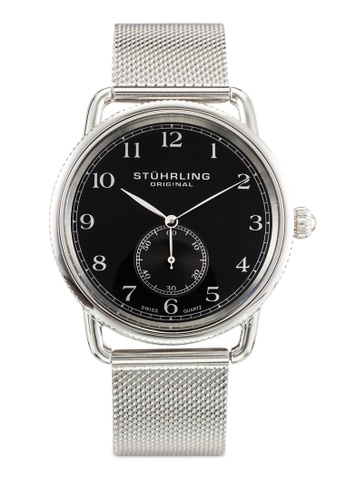 Stuhrling Original silver Stainless Steel Mesh Swiss Quarts Watch ST251AC0RFIMMY_1