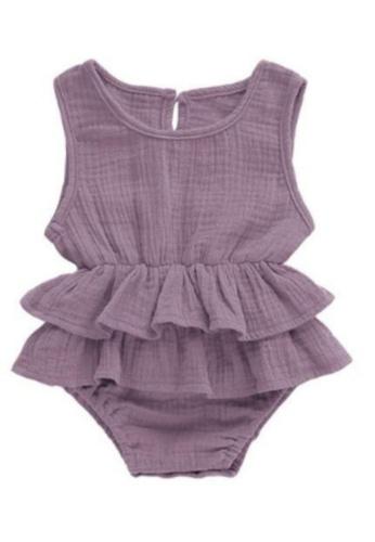 RAISING LITTLE purple Kirsten Romper - Violet C2408KA62A44A7GS_1