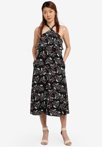 Something Borrowed black Double Layer Midi Dress ABC68ZZ9C56154GS_1