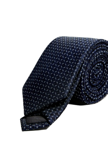 MANGO Man blue Geometric Print Tie BF48EACDBBBAF1GS_1