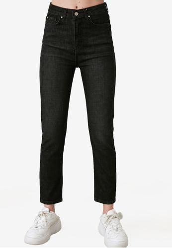Trendyol black High Waist Slim Fit Jeans 22C90AAD98E887GS_1
