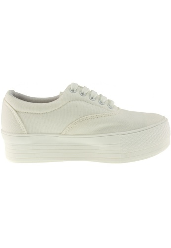 Maxstar Maxstar Women's C40 5 Holes Platform Canvas Low Top Sneakers US Women Size MA168SH24BEHHK_1
