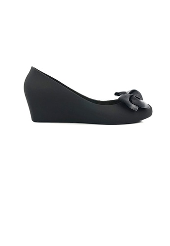 SHINE black Silk Ribbon Jelly Wedges F1DDCSHE1DEE50GS_1