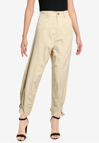 niko and ... brown Belt Hem Pants 530C9AA426871DGS_1