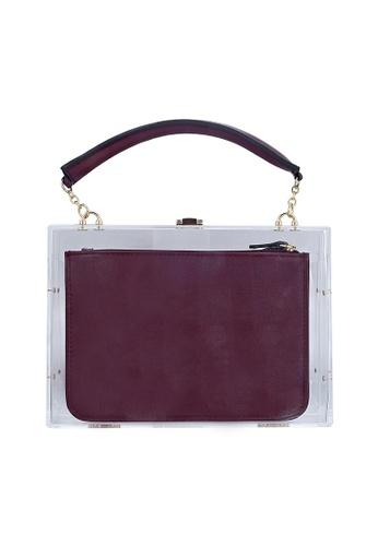 My Flash Trash red Dark red inner bag with triangle acrylic box hand bag E532EAC12FBEECGS_1