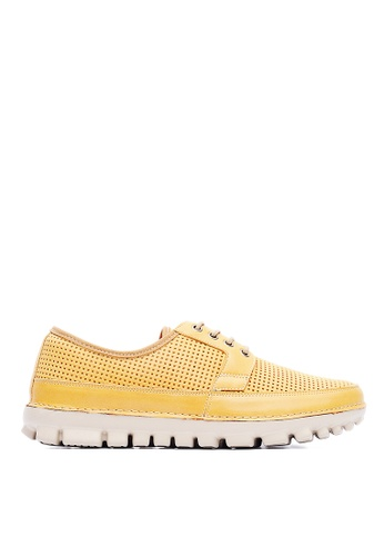 Life8 yellow Lightweight Burnished Cow Leather Casual Shoes-09422-Yellow LI286SH07AKMMY_1
