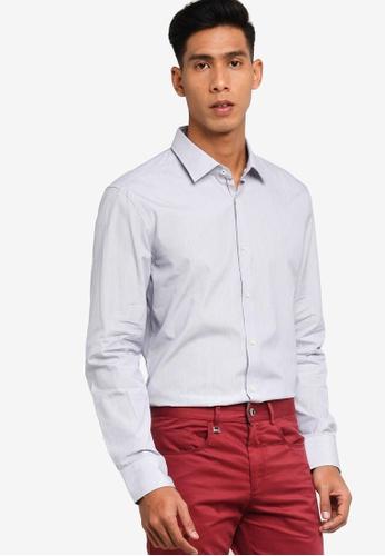 BOSS navy Jenno Long Sleeves Shirt 535E2AA5603368GS_1