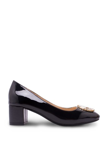 Sepatu Wanita Mid Heel Hitam
