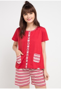 990a765793 Puppy red and multi Stripe Basic Sleepwear 16794AA8BC3927GS 1