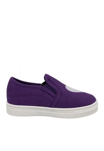 Step One purple Girls' Toddler Heart Slip On E9473KS0A2DB79GS_1