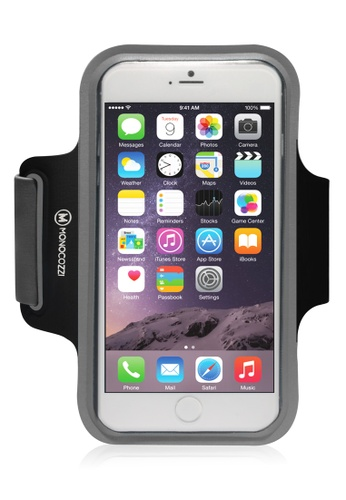 Monocozzi black and grey Motion Sports Armband With Cable Management For iPhone 6  MO983AC61BXEHK_1