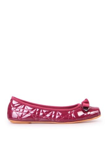 Sunnydaysweety 紅色 限量秒殺品 - 經典格紋蝴蝶結小方頭平底鞋C12095WN SU395SH0907WTW_1