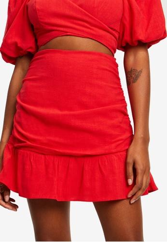 Sável red Aubree Mini Skirt 9F924AA9B5BC85GS_1