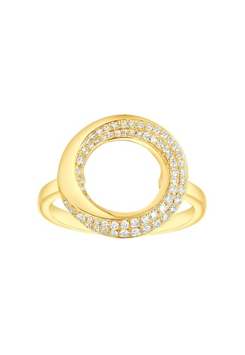 Vedantti yellow Vedantti 18K The Circle Slim Ring in Yellow Gold F4DE6AC1FE0385GS_1