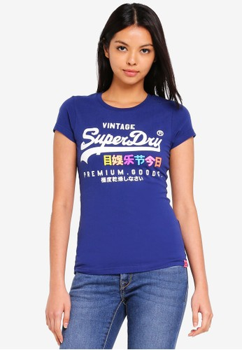 Superdry navy Premium Goods Puff Entry Tee 4FAE5AAF5A88CEGS_1