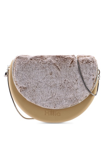 Hoola Hoola brown Chiara Saddle - Hazelnut  Fox Fur & Snake Chain FB565ACEB3B928GS_1