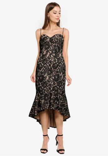 ZALORA OCCASION black Bustier Lace Mermaid Dress 84402AA638A362GS_1