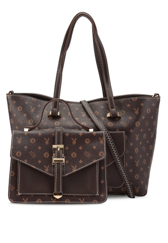 PLAYBOY BUNNY brown 2 in 1 Ladies Bag A091CACCBB9EE2GS_1
