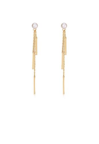 SUNSET 金色 Premium S925 Sliver Pearl Earring 036ADAC9173D4EGS_1