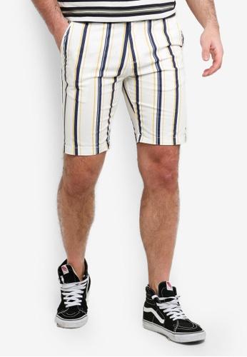 Cotton On 白色 and 黃色 and 海軍藍色 休閒短褲 FE4BDAADBAE2B4GS_1