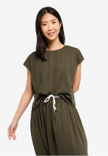 ZALORA BASICS green Basic Oversized Boxy T-Shirt 51ACAAA50073F0GS_1