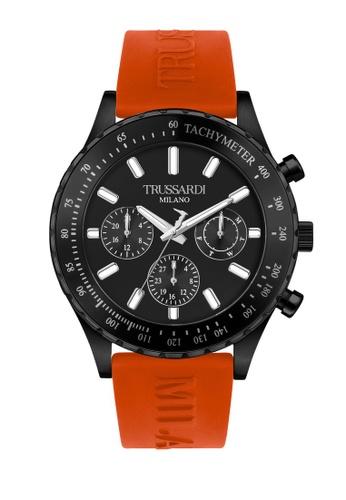 Trussardi orange Trussardi T- Logo Orange Silicon Strap Men's Watches R2451148003 931BAAC3BE0365GS_1
