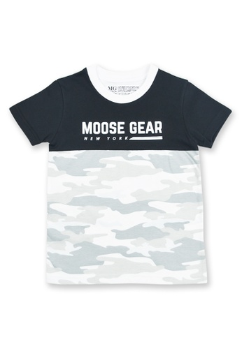 Moose Gear black and white T-Shirt For Boys With All Over Print D006BKA1F58088GS_1
