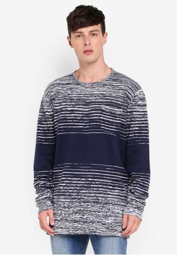 Brave Soul 灰色 條紋針織毛衣 B9190AAB9906F1GS_1