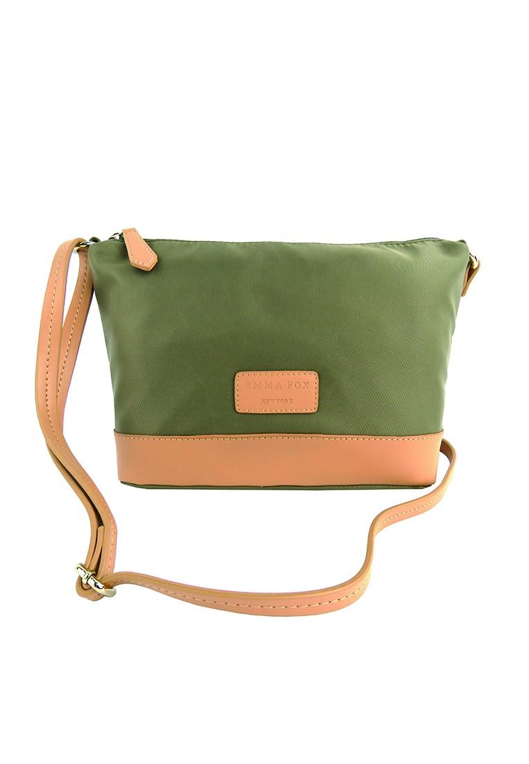 PRM Nylon Leather Trims Shoulder Bag