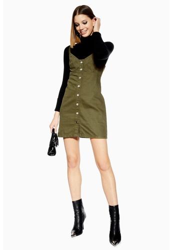 62aff67a60c0 Shop TOPSHOP Khaki Denim Button Up Dress Online on ZALORA Philippines
