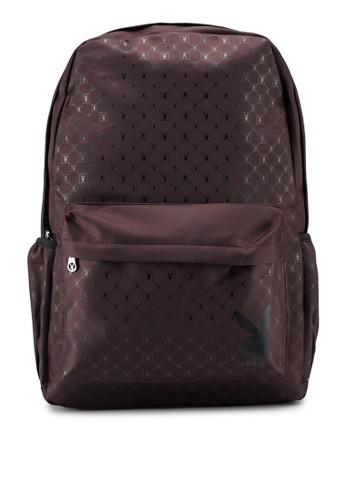 Playboy brown Printed Backpack 6A6F4AC5D1B9DCGS_1
